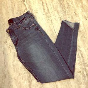 Denim - Celebrity pink raw hem jeans